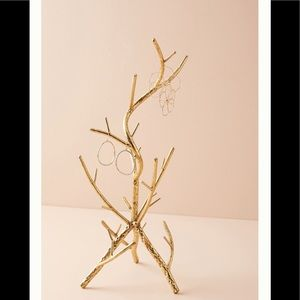 Anthropologie Golden Branch Jewelry Stand NEW